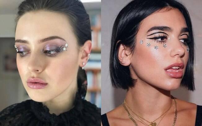 As estrelas eram uma grande tendência nos anos 2000 e estão entre as dicas de beleza das famosas para maquiagem
