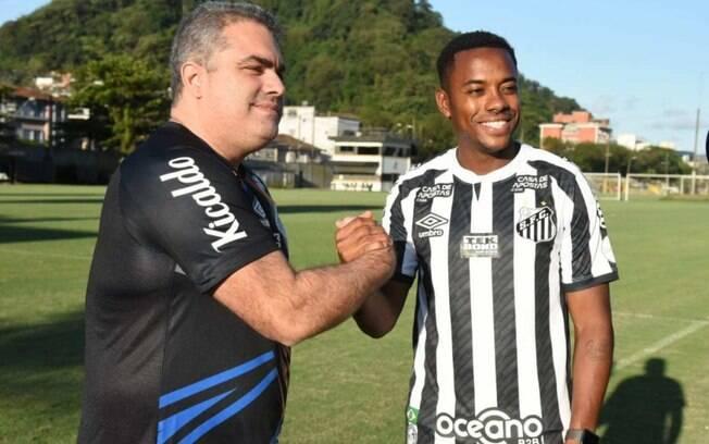 Presidente do Santos fala sobre Robinho, considera áudios 'gravíssimos', mas pede tolerância