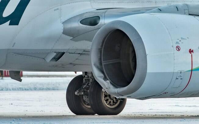 A capota do motor esquerdo foi danificada e o avião permaneceu no aeroporto de Yakutat, no Alasca