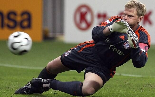 7º Kahn - alemão disputou 9268 minutos nas  temporadas em que defendeu o gol do Bayern de  Munique