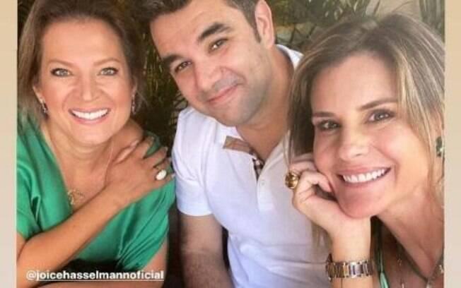 Janaína Xavier com namorado e Joice Hasselmann