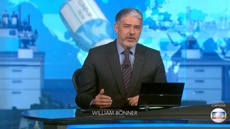 William Bonner na bancada do JN