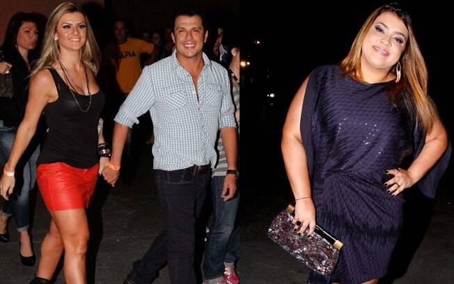 Ceará chegando com Mirella, e Preta Gil posando para os fotógrafos