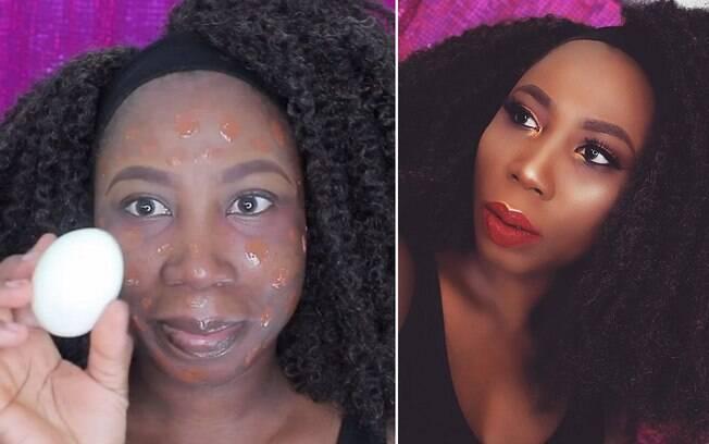 Blogueira usa um ovo para se maquiar e o resultado é surpreendente