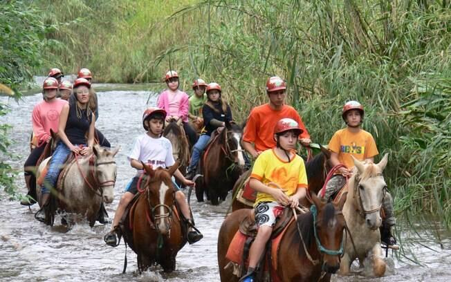 Cavalgar está entre as indicações de passeios em Brotas, e a experiência costuma agradar os turistas