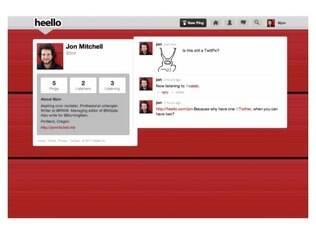 Design semelhante ao do Twitter, esse é o Heello
