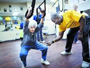 Perfil. A clientela de Addo tem idades e físicos diferentes, mas em geral é composta por mulheres idosas como Shirley Friedman, 90
