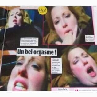 Frames do suposto vídeo de Adele fazendo sexo ilustram as páginas da revista Public
