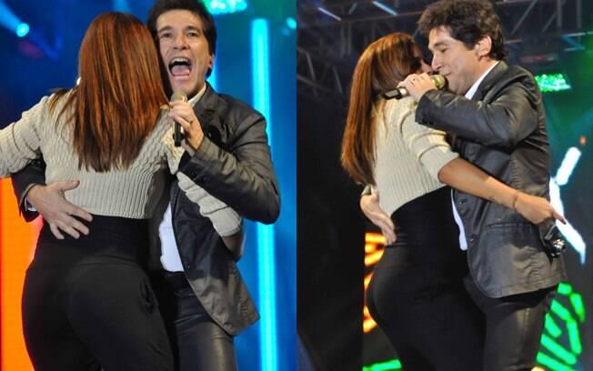 Daniel também dançou coladinho com as fãs durante rodeio no Rio