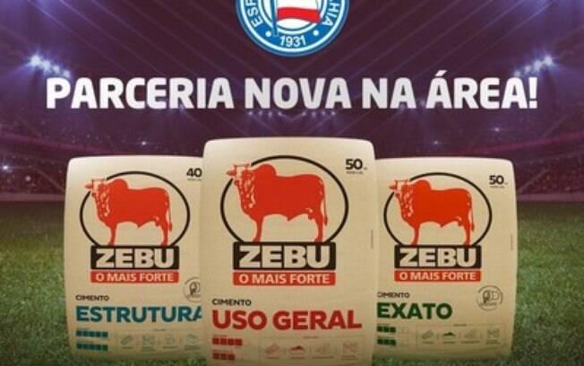 Cimento Zebu anuncia patrocínio no EC Bahia