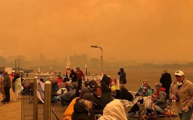 Incêndios atingiram a região de Vitória, na Austrália