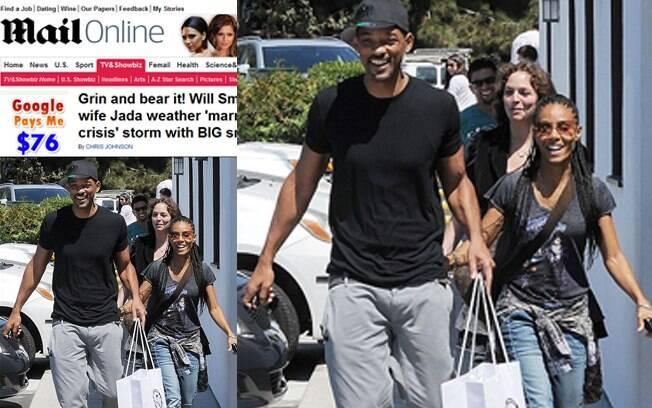 Will e Jada Smith almoçam juntos e passeiam por Malibu afirmando, mais uma vez, que os rumores da separação são falsos