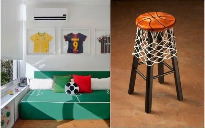 Personalizar a casa de um atleta oferece muitas opções
