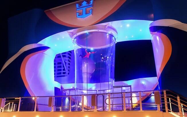 O RipCord by iFly é mais uma atração que o viajante só encontra nos cruzeiros da Royal Caribbean