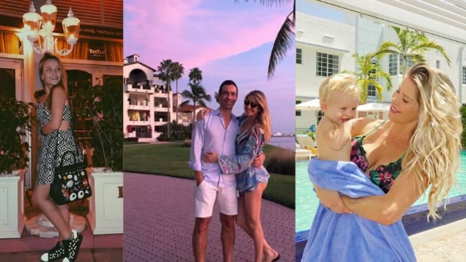 Famosos como Ticiane Pinheiro, César Tralli, Larissa Manoela e Karina Bacchi visitaram Miami