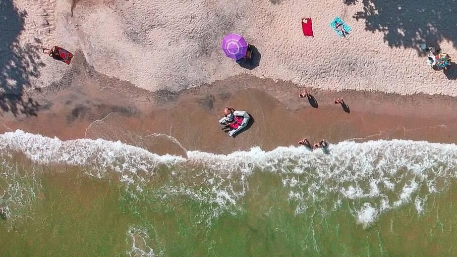 A Praia do Léo é uma das mais vazias de Ubatuba