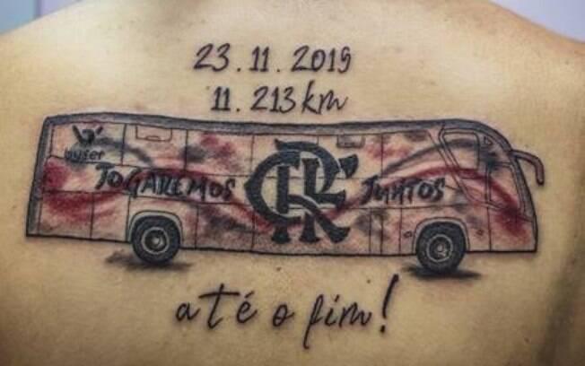 O ônibus que a levou para a final da Libertadores foi eternizado
