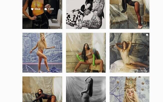 Ligada à moda, a influenciadora tem um perfil com fotos de ensaios, que já deixam claro qual nicho ela pertence