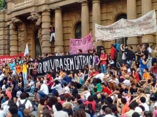 Protesto de sexta (9) foi o primeiro contra o aumento da tarifa para R$ 3,50