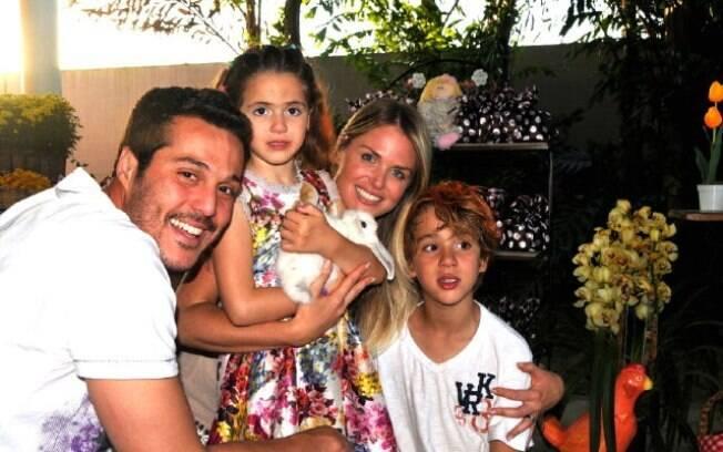 Júlio César, Susana Werner e os filhos Giulia e Cauet
