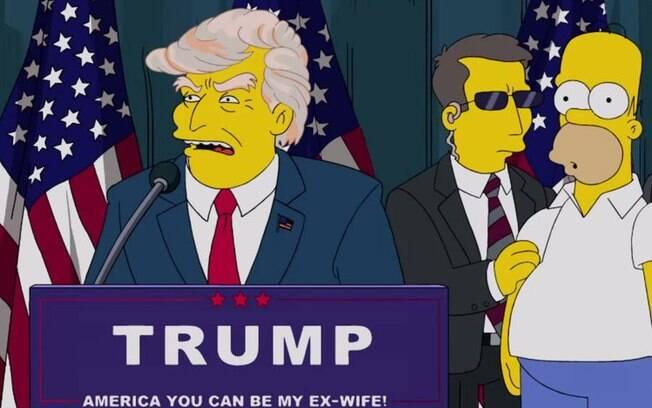Os Simpsons previu Donald Trump como presidente dos EUA há 16 anos