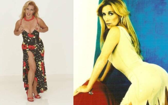 Rita Cadillac em poses sensuais no auge da fama