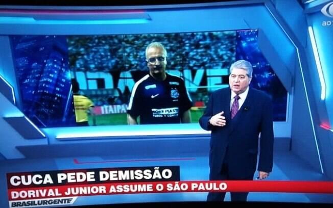 José Luiz Datena cravou a contratação de Dorival Junior pelo São Paulo