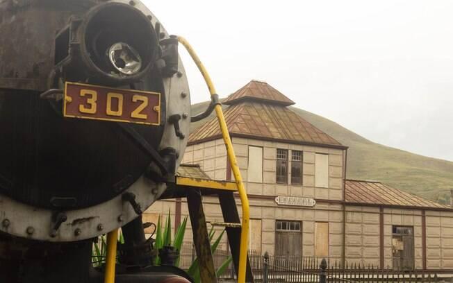 Estação Ferroviária, 1888 - Construída em ferro desmontável importado da Bélgica.