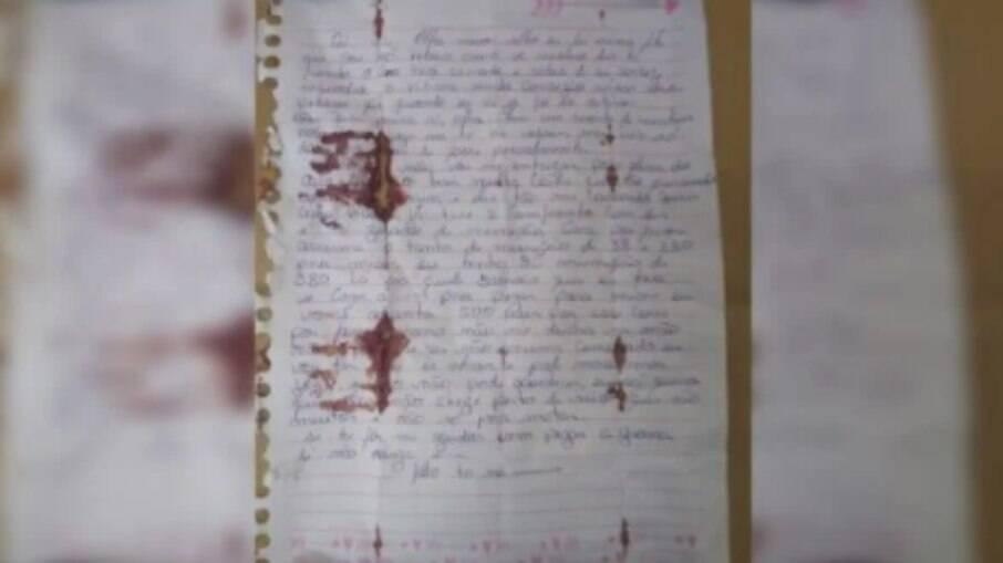 Carta encontrada com Lázaro pode  indicar detalhes da chacina da família Vidal