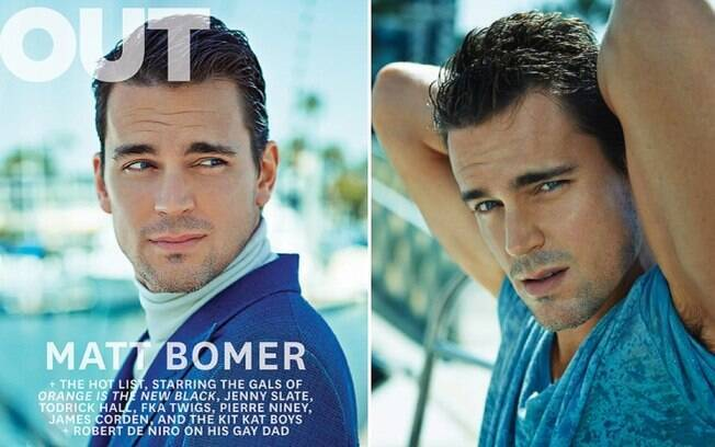 Lindo!: Matt Bomer na capa da revista gay americana Out