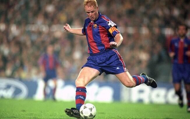 Ronald Koeman jogou no Barcelona entre os anos de 1989 e 1995