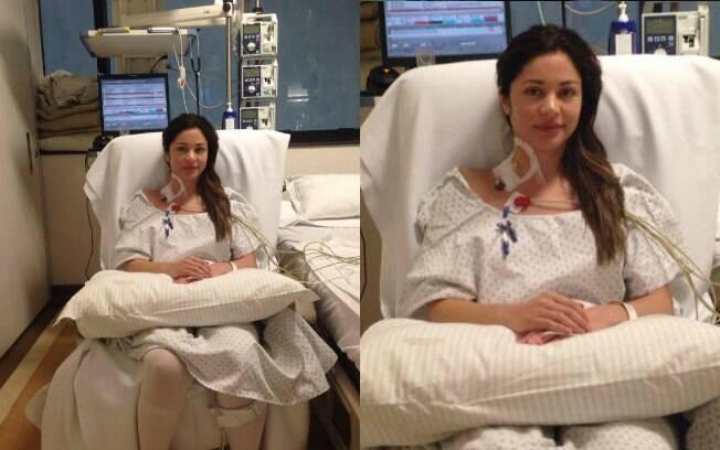 Maria Melilo durante tratamento no Hospital Sírio-Libanês