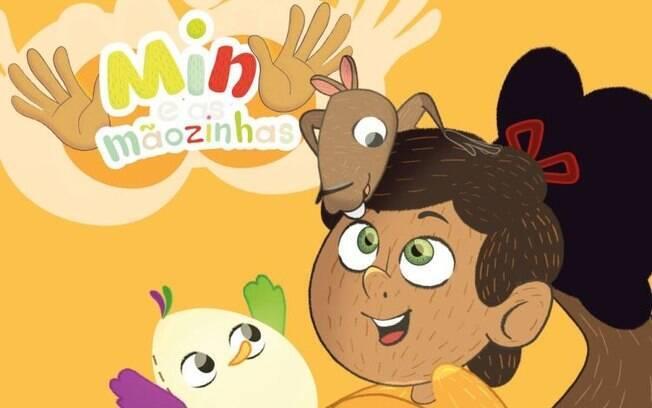 O desenho animado 'Min e As Mãozinhas' foi criado com foco de ajudar crianças surdas e ouvintes a aprenderem LIBRAS