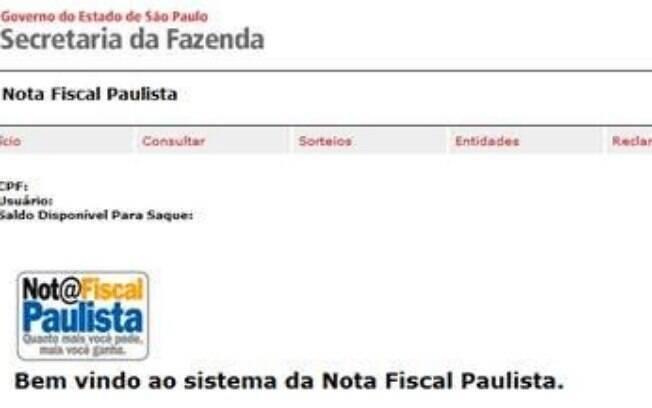 Como aderir aos prêmios da Nota Fiscal Paulista