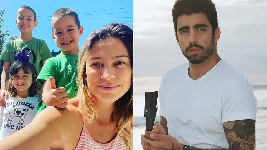 Luana Piovani reclama que Pedro Scooby deu um celular para cada filho