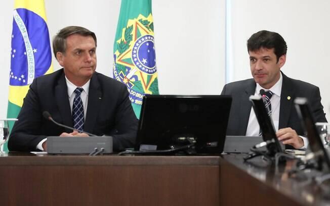 Jair Bolsonaro e o ministro do Turismo, Marcelo Álvaro Antonio