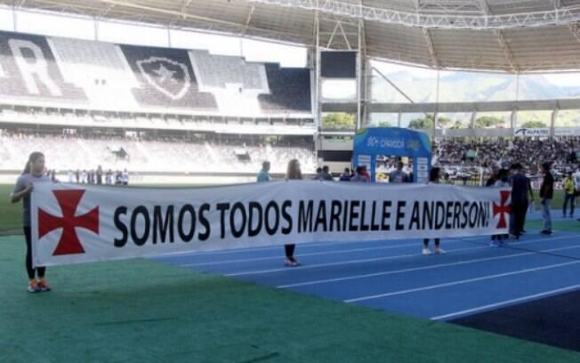Vasco da Gama foi o único clube que homenageou Marielle e Anderson fora das redes sociais