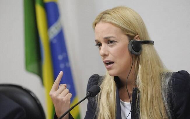 Lilian Tintori esteve no Brasil e foi recebida por parlamentares do PSDB