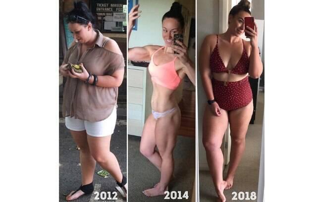 Kate Writer estava acima do peso em 2012, emagreceu em 2014 e agora, em 2019, decidiu abandonar a dieta