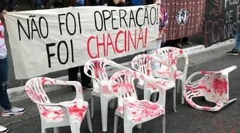 Manifestantes se reúnem na Avenida Paulista e pedem justiça pelos mortos no Jacarezinho