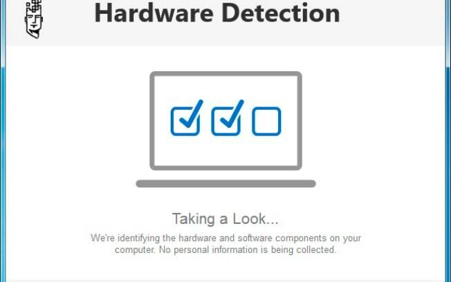 Abra o arquivo para que o seu hardware do seu PC seja detectado.