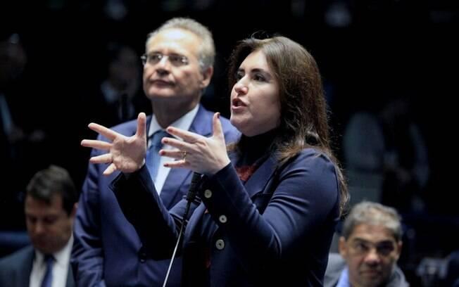 Simone Tebet é a principal concorrente de Renan Calheiros na eleição para a presidência do Senado