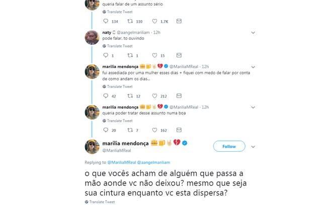 Marília Mendonça conta que foi assediada durante show
