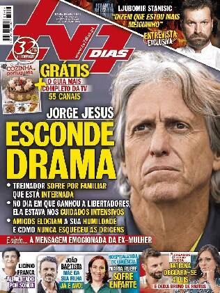 Jorge Jesus na capa de revista portuguesa