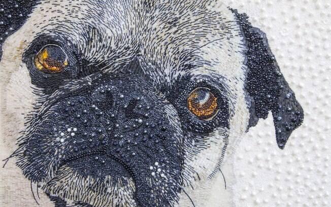 Artista cria retratos de animais de forma inusitada e incrível