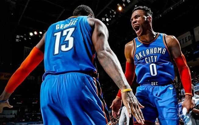 Russell Westbrook foi o grande destaque da equipe de Oklahoma nesta quarta-feira