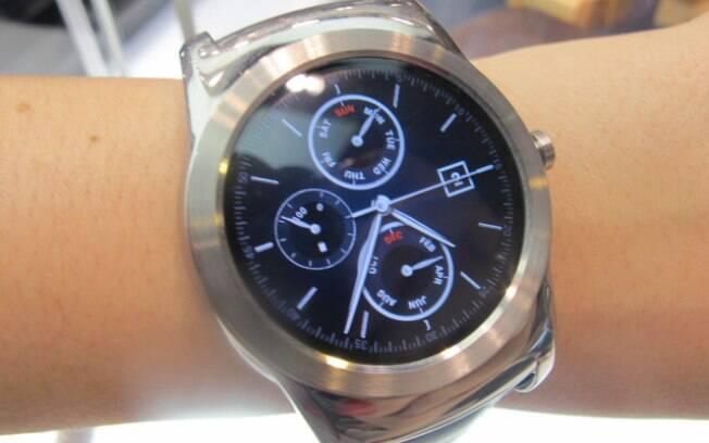709d9b2bc0b LG Watch Urbane sem conectivida de rede roda Android Wear