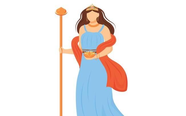 Única esposa de Zeus, Hera é a deusa que representa o matrimônio sagrado