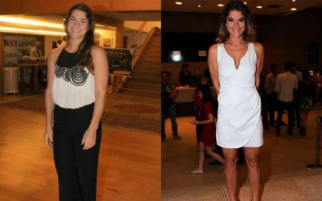 Antes e depois: Fantin está com as curvas mais definidas e bem mais magra do que há alguns meses