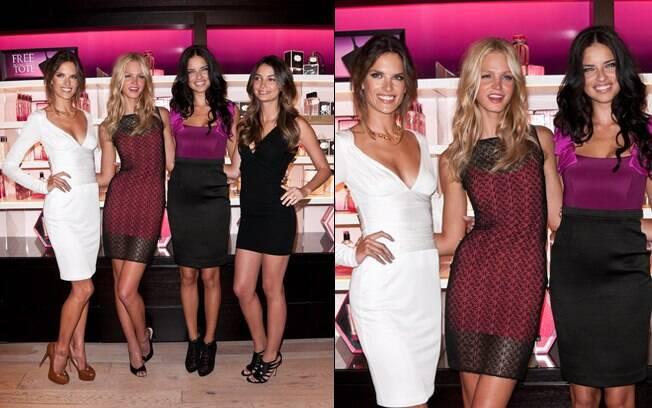 Alessandra Ambrosio e Adriana Lima posaram com Erin Heatherton e Lily Aldridge